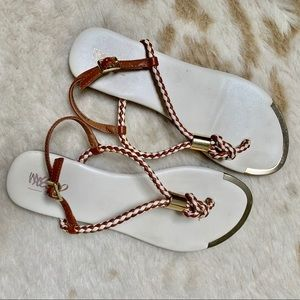 Mossimo Gold Cap Sandals
